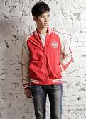 【BTIS】風衣棒球中性款外套  紅色