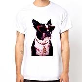 French Bulldog-Fashion短袖T恤-白色 法鬥巴哥狗 犬 動物 圖案 相片趣味290 Gildan