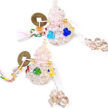 開運五行水晶串珠葫蘆掛飾