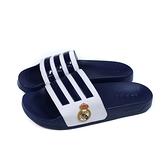 adidas 拖鞋 運動型 深藍/白 男鞋 FW7073 no926