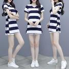 運動套裝 夏裝2021新款小個子顯高短褲套裝女兩件套洋氣夏裝搭配時尚女士裝 維多原創