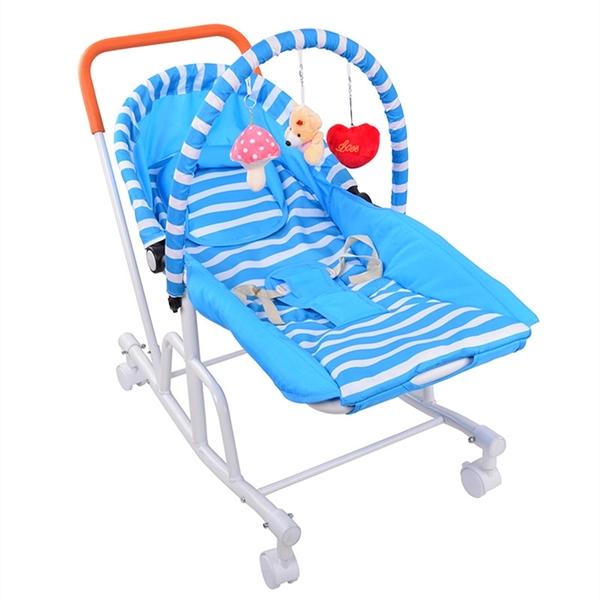 哄娃神器嬰兒搖搖椅搖籃床睡籃新生兒小孩安撫躺椅寶寶網路懶人車