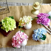 絹花干花束塑料假花仿真插花藝套裝飾品擺件擺設客廳家居小花盆栽   (橙子精品)
