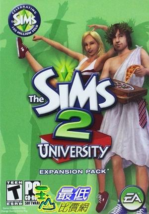[7美國直購] 2018 amazon 亞馬遜暢銷軟體 The Sims 2 University Expansion Pack - PC