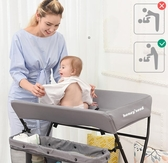 尿布台 兒童護理台新生兒寶寶換尿布台按摩撫觸洗澡台多功能可折疊【快速出貨八折下殺】