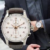 HAMILTON 漢米爾頓 JAZZMASTER 時尚達人計時皮革機械腕錶/黑 H32766513 熱賣中!