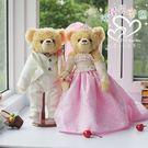 娃娃屋樂園~粉配白.浪漫款-歐風婚紗對熊 每對1580元/婚禮小物/熊熊玩偶/可站立有支架/會場佈置