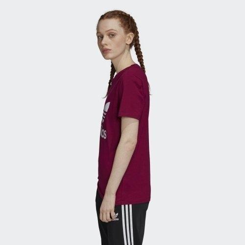 ADIDAS CLOTHING Trefoil 女裝 短袖 休閒 經典 棉質 柔軟 紫紅 【運動世界】 GD2433