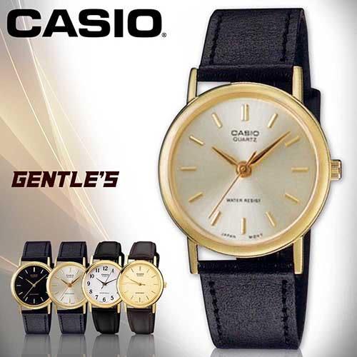 CASIO手錶專賣店 卡西歐  MTP-1095Q-7A 男錶 銀面丁字  防刮礦物玻璃 防水30米 指針 數字 耐磨皮革錶帶