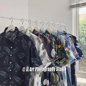 夏威夷短袖花襯衫男港風復古Vetiver韓版潮流很仙的情侶襯衣沙灘 滿天星