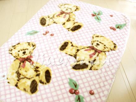 【佳兒園婦幼館】日本西川 三熊發熱中童毯100x140cm (粉色)