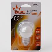 觀自在 LED磨砂燈泡 E27 0.5W 琥珀光