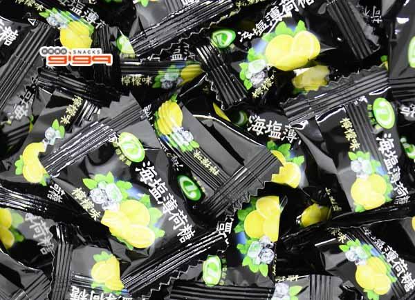 【吉嘉食品】綠得 海鹽薄荷糖(檸檬味) 600公克 {X201-15:600}