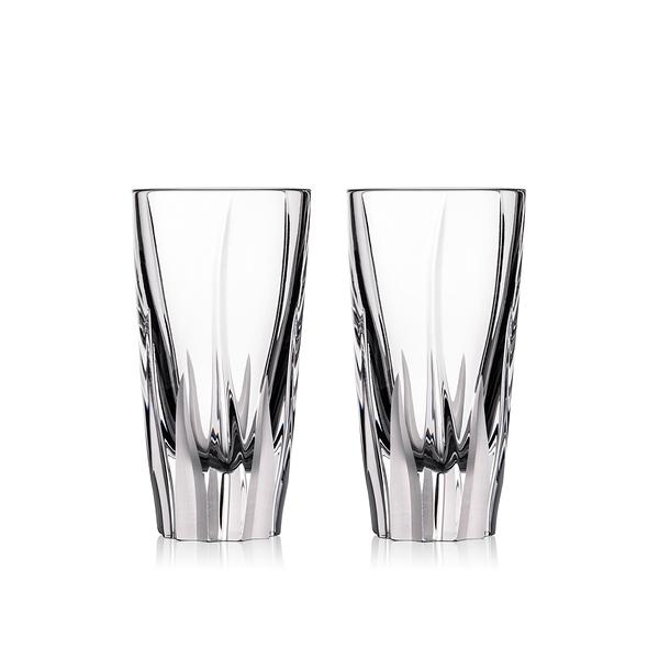 斯洛維尼亞 Rogaska Flame S/2 Shot Glass H8.3cm 2pcs 火焰之舞系列 手工水晶 伏特加酒杯 兩件組