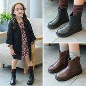 兒童單靴女童英倫風馬丁靴真皮短靴