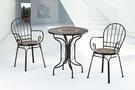 【南洋風休閒傢俱】戶外休閒桌椅系列-土耳其黑色休閒圓桌椅組 戶外餐桌椅CX904-3 CX939-9)