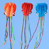 風箏濰坊軟體風箏章魚成人兒童大型新款風箏線輪高檔立體微風易飛歡樂聖誕節