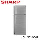 SHARP 夏普 583L 自動除菌離子變頻雙門電冰箱 光耀銀 SJ-GD58V-SL