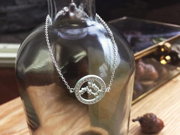 925銀+鋯石小星星 雙子座 Gemini 星座珠寶手鍊 DeeDee Jewellery 生日禮物、母親節禮物