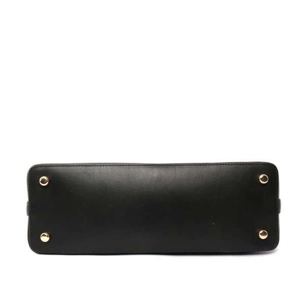 【COACH】PVC LOGO貝殼包 手提/肩背/斜背包(大款)(巧克力) F27584 IMAA8