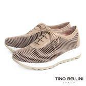 Tino Bellini 西班牙都會X運動網格綁帶厚底休閒鞋(淺駝)_A63038  2016SS歐洲進口款