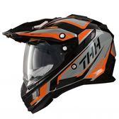 THH TX27 TX27A 全罩 安全帽 越野帽 遮陽鏡片 雙層鏡片 《鋼鐵英雄》黑/橘 黑橘(好禮3選1)