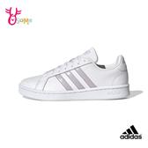 adidas GRAND COURT 成人女款 板鞋 休閒運動鞋 R9384#白紫◆OSOME奧森鞋業
