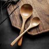 日式創意櫸木長柄實木湯勺