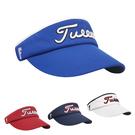 男女款 高爾夫帽子遮陽帽golf球帽藍色休閑運動高爾夫空頂帽棒球