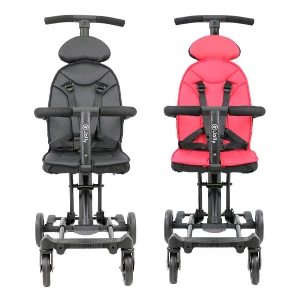 英國 JOLLY 輕便型摺疊手推車-尊爵版(黑/紅)不含遮陽棚