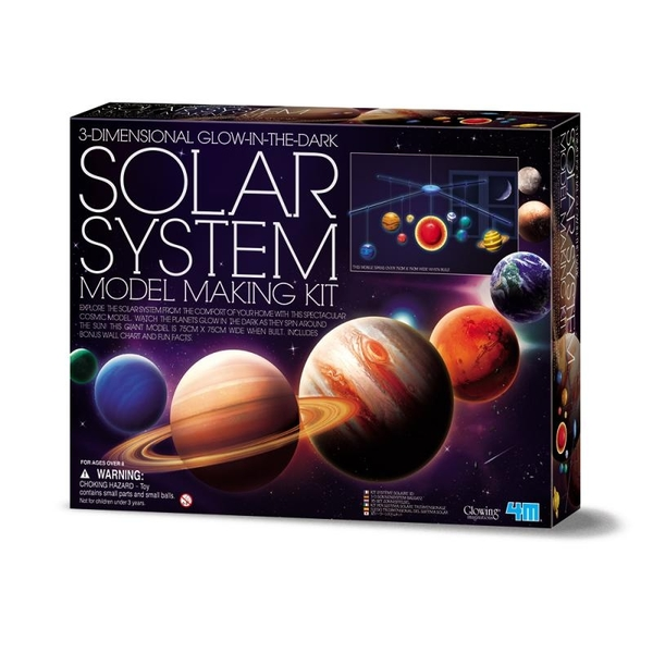 【4M】05520 科學探索-3D立體太陽系 3DSolar System Mobile Making Kit