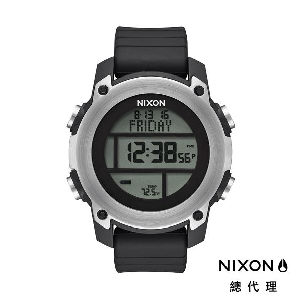 【官方旗艦店】NIXON UNIT DIVE 鋼裝潛水 銀黑 潮人裝備 潮人態度 禮物首選
