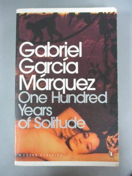 【書寶二手書T3/原文小說_IPW】One Hundred Years of Solitude_Marquez Gabr