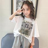 女童夏裝純棉短袖t恤新款中大童洋裝韓版寬松半袖上衣小女孩夏款T