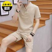 夏季睡衣男中國風棉麻唐裝休閒居家服套裝夏天青年可外穿兩件套