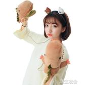 手套女冬季學生卡通掛脖萌軟妹可愛韓版兒童鱷魚恐龍毛絨保暖加厚  潮流小鋪