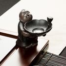 粗陶茶漏網托陶瓷功夫茶具配件茶隔濾茶器茶葉過濾架茶寵茶玩擺件『新佰數位屋』