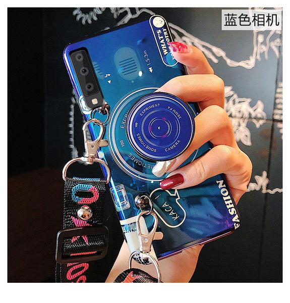 Vivo V15 Pro 全包邊  v15 創意支架軟殼 背蓋 可斜背保護殼  手機殼 可斜跨 復古相機 帶掛繩 矽膠