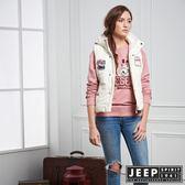 【JEEP】女裝 美式風格造型連帽背心 (象牙白)