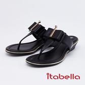 itabella.女神風采-時尚夾腳拖鞋(0316-90黑色)