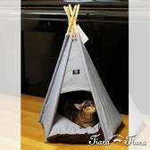 【Tiara Tiara】印地安寵物帳篷寵物窩(藍)
