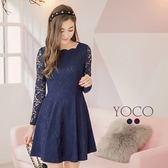 東京著衣【YOCO】法式浪漫唯美全蕾絲修身洋裝-S.M.L(172554)