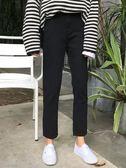 牛仔褲 韓版高腰黑色休閒直筒褲百搭基礎款牛仔褲長褲學生潮 伊韓時尚