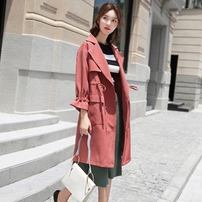 風衣 大衣-中長版韓版時尚魅力大方女外套3色73pt33【巴黎精品】