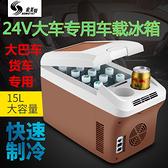 車載冰箱小型車家兩用12V-24V專用汽車大貨車冷藏箱藥物恒溫箱 父親節特惠