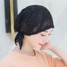 頭巾帽 包頭帽月子帽子女夏季薄款透氣化療帽子女薄夏光頭蕾絲頭巾堆堆帽寶貝計畫 上新