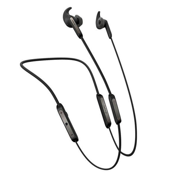 公司貨『 Jabra Elite 45e 銀黑 』藍芽耳機/耳道頸掛式藍牙/立體音效/磁吸式/IP54防塵防水保固2年
