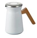 金時代書香咖啡 HARIO Simply 典雅不鏽鋼保溫壺 白色 S-STP-600-W