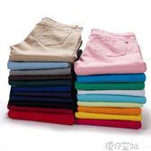 彩色打底褲女外穿秋季韓版糖果色鉛筆褲長褲顯瘦小腳修身女褲 港仔會社