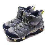 Merrell 戶外鞋 Moab 2 Mid GTX 灰 紫 Vibram大底 健行 登山鞋 女鞋【PUMP306】 ML19884